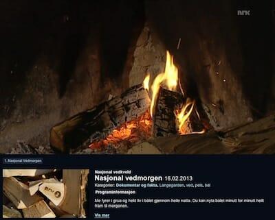 Nasjonal vedmorgen 16.02.2013 / NRK TV