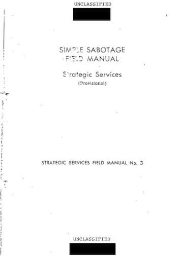 Simple Sabotage Field Manual / CIA