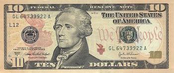 アメリカ合衆国10ドル紙幣(SERIES 2004A) / Wikipedia