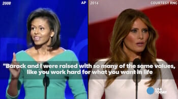 See Melania Trump, Michelle Obama's speeches side-by-side(YouTube)