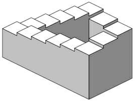 劇中で参照されるイギリスの数学者ロジャー・ペンローズによるペンローズの階段。/ Wikipedia