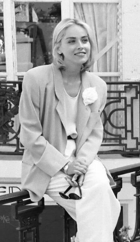 シャロン・ストーン(1991年)/ Sharon Stone au Festival du cinéma américain de Deauville (Calvados, France) / Wikipedia