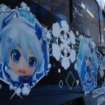 2012年の雪ミク電車は、フルラッピングです!