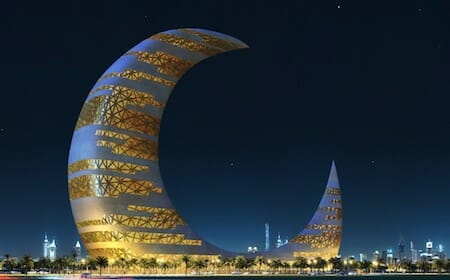 The Crescent Moon Tower by Transparent House