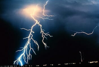 Lightning is a natural electric arc
