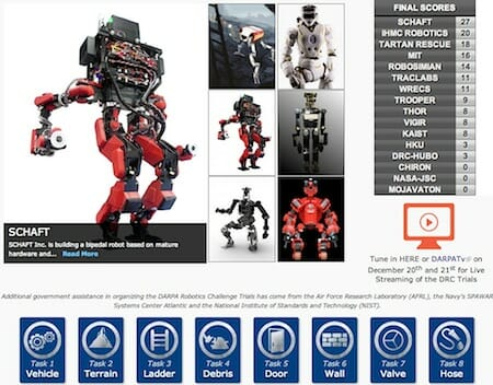 DARPA Robotics Challenge Website