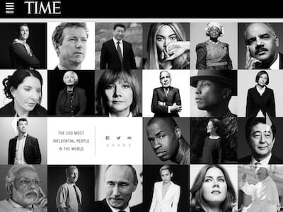 2014 TIME 100 Website