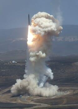 June 22, 2014 - The Missile Defense Agency's Flight Test 06b Ground-Based Interceptor launches from Vandenberg Air Force Base, Calif. on June 22, 2014.