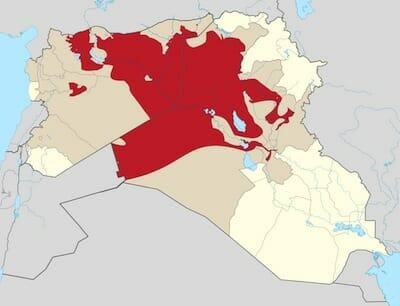 Territorial control of the ISIS / Wikipedia 2014年8月16日現在
