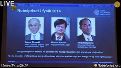 Announcement of the Nobel Prize in Physics 2014 / Nobel Prize
