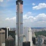 米国一の超高層マンション(432 Park Ave)の眺め