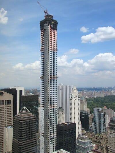 2014年8月の建設状況、シティグループセンターよりの眺め / Wikipedia