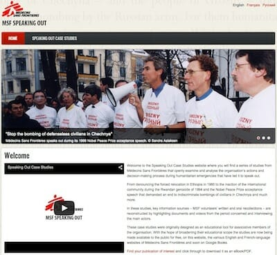 MSF Speaking Out Website