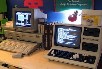 Atari 520ST and TRS-80 Model 4 ( 8MHz 68000 vs. 4MHz Z-80 ) / Blake Patterson
