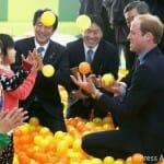 英ウィリアム王子が福島の子どもたちと交流