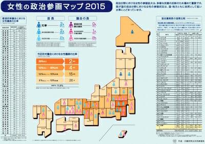 女性の政治参加マップ2015 / 内閣府