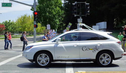 Google self-driving car / Travis Wise