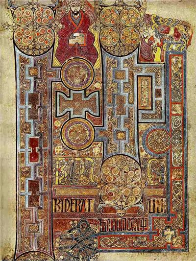 豪華な装飾がなされているヨハネによる福音書のページ / Wikipedia