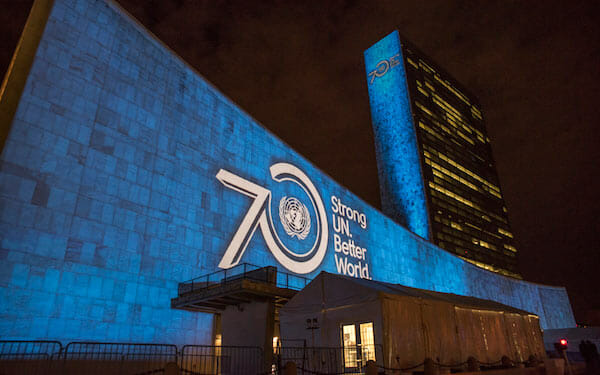 Projections on Sustainable Development Goals and 70th Anniversary of the United Nations / UN Photo