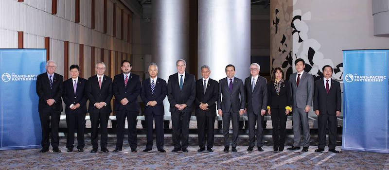 Ambassador Michael Froman & Ministers gathered in Atlanta for the Trans-Pacific Partnership Ministerial. / Facebook