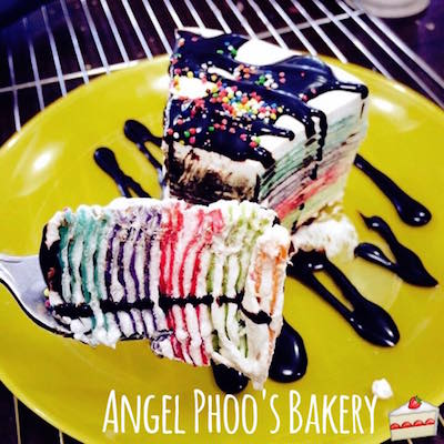 Rainbow Crêpe cake / Angel Phoo's Bakery