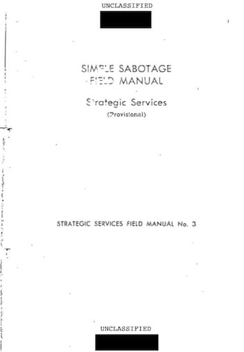 Simple Sabotage Field Manual / CIA