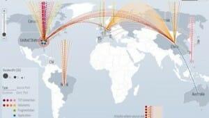 Google、デジタルアタックマップ(DDoS攻撃)を公開