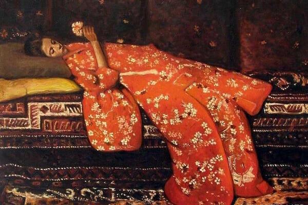 George Hendrik Breitner Girl in Red Kimono Geesje Kwak / Wikipedia