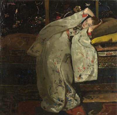 Girl in a White Kimono, George Hendrik Breitner, , 1894 / rijksmuseum.nl