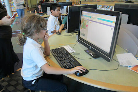 Hour of Code at the Alum Rock Branch / San José Library