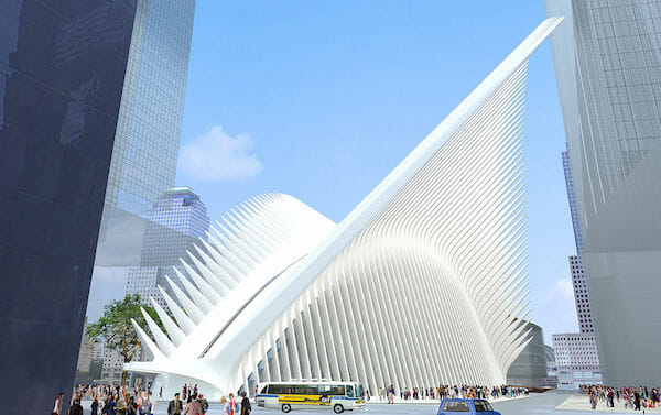 Santiagao Calatrava - World Trade Center Transportation Hub rendering / Wikipedia