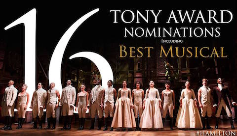 Hamilton: An American Musical has been nominated for 16 Tony Awards including Best Musical. Other nominations include: / Facebook