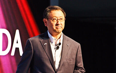 "Akio Toyoda, President of the Toyota Motor Corporation, attended the ""Lexus GS Launch Event"" in Monterey County, California State on August 18, 2011. / Wikipedia"