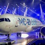 露イルクート、小型旅客機「MC-21」の完成披露式