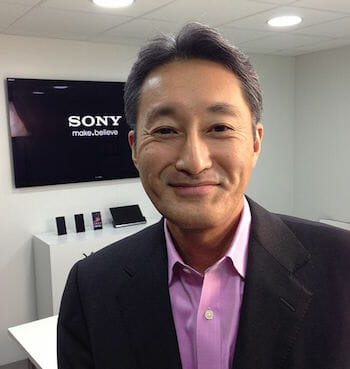 Kazuo Hirai, Sony President. Snapped at Mobile World Congress, 2013 in Barcelona. / Wikipedia