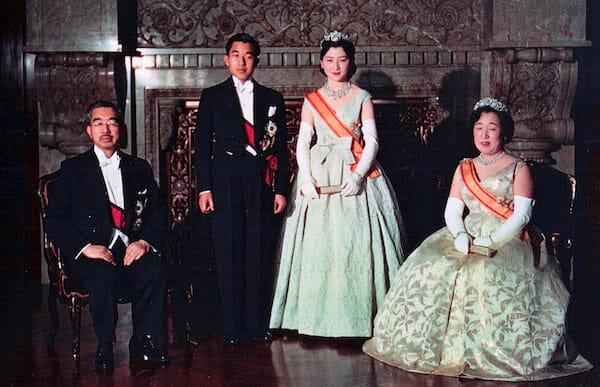 Crown Prince Akihito on his wedding day, 10 April 1959 / Wikipedia