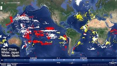 Fishing Fleets Labeled / GFW