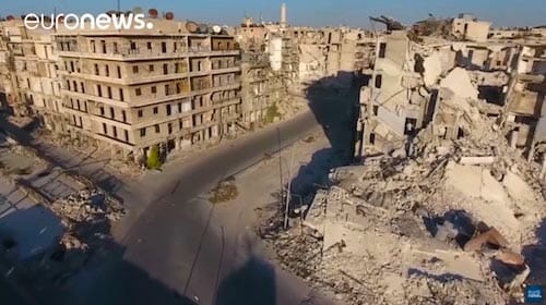 Shocking drone footage shows Aleppo destruction / euronews