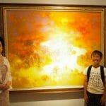 佐々木榮松さんが見えるように描いた釧路湿原