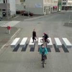 アイスランドに3Dトリックアート横断歩道が登場