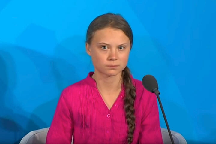 Greta Thunberg at Climate Action Summit 2019